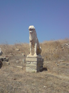 Statue, Delos, Cyclades islands