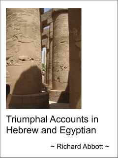 `Triumphal Accounts in Hebrew and Egyptian` Cover